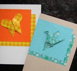 origami grue papillon en papier