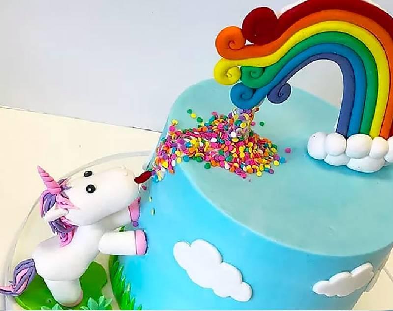 Gâteau de licorne magique
