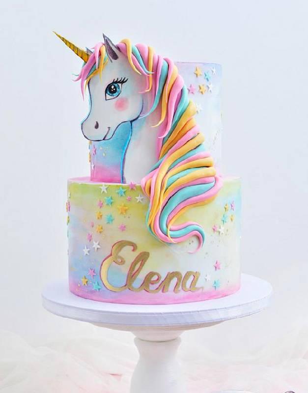 Gâteau de licorne stylée