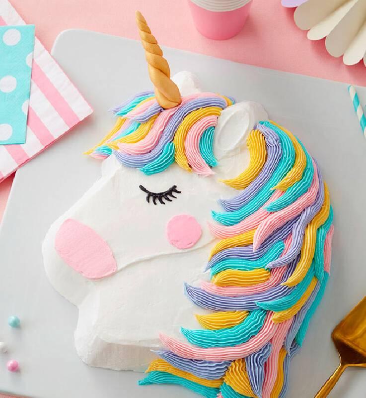 Gâteau tete licorne