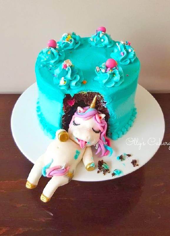Gâteau de licorne original